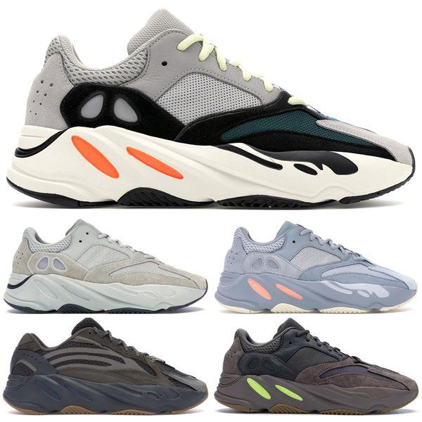 2019 Dalga Adidas Wave Runner Yeezy 700 V2 Boost Erkek Koşu Ayakkabıları Statik Mauve EE9614 Katı Gri B75571 Moda Spor Kadın Spor Sneakers Ile Ayakkabı Kutusu 36-46