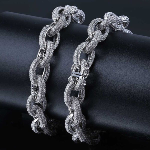 18K Real Gold Plated Hip Hop Iced Out CZ Zirconia Mens Big Cuban Link Chain Necklace 12mm Full Diamond Miami Choker Jewelry Gifts for Boys