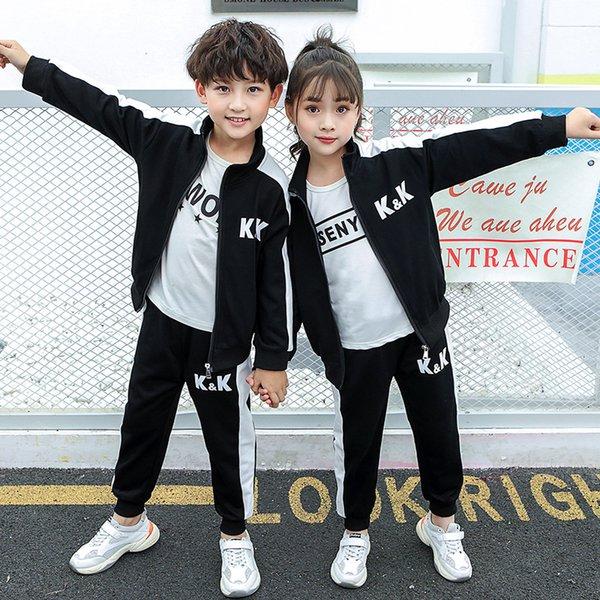 2 Sets Jungen und Mädchen Sportbekleidung Jacke + Sport-Hosen Neue Jacken-Kinder Casual Langarm-Shirt Hose Zweiteilige