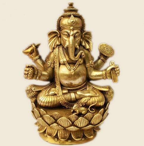 Tibetan Buddhism, Tantra, Ganesha, Geneisha, God with Elephant Head, Statue, Buddha figure, figurine, god of victory ~