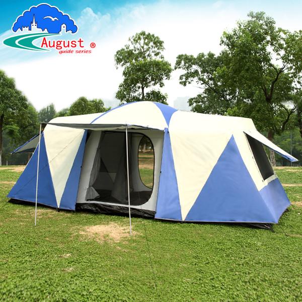 Ultralarge 8-12 Personen Doppelschicht eine Halle zwei Schlafzimmer wasserdicht winddicht Familienfeier Zelt