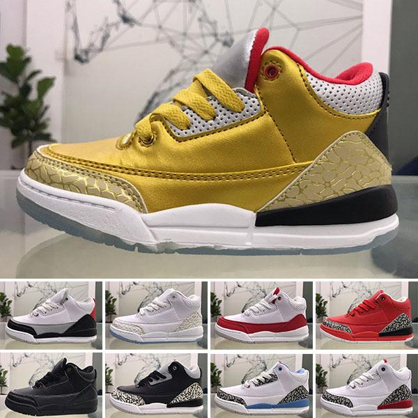 With Box Big Boys Jumpman 3s Classic Basketball Shoes Toddler Kids Jump Man Sports Shoe Little Girls Sport Chaussures Children Sneakers Boy