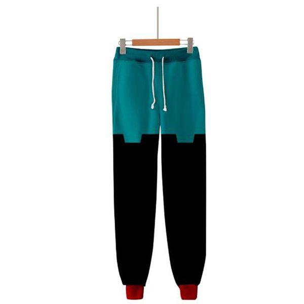2019 New Arrival My hero college 3D Drawstring Trousers Pants Men Women Cotton Slim Straight Harajuku Warm Casual Hip Hop Pants