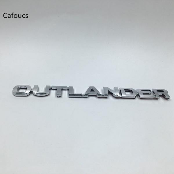 Accessoires de voiture pour autocollants chromés de symbole d'insigne de logo d'emblème arrière de Mitsubishi Outlander