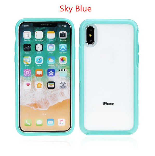 2mm Thickness Transparent Acrylic phone cases For IPhone X XR XS MAX 8 Plus 7 6 6S Military grade Drop Resistance cellphone case