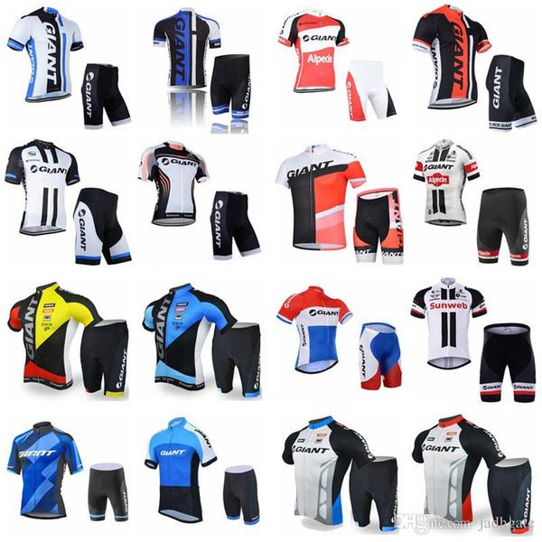 GIANT squadra ciclismo maniche corte pantaloncini in jersey set estate abbigliamento ciclismo all'aperto kit senza maniche D1307