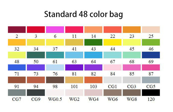 표준 48 색 가방