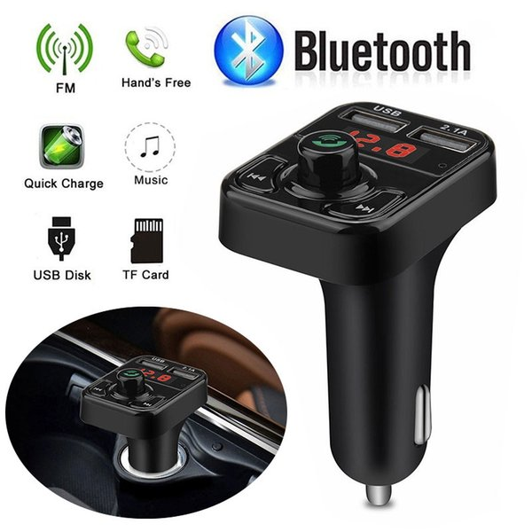 2019 Wireless Radio Adapter Car FM Transmitter Universal Bluetooth FM Transmitter for Voltage Detection Drop Shipping