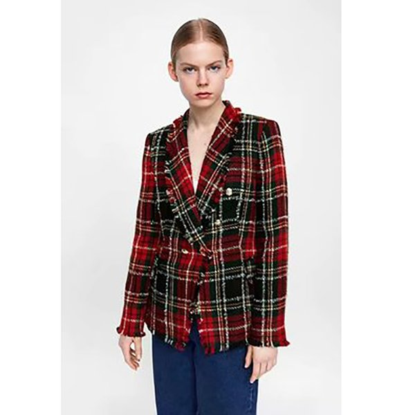 mejor precio para bastante agradable varios colores 2019 Vintage Vaste Robe Blazer Femme Bouton Plaid Tweed Korean Style Women  Winter Blazer Office Wear Americana Mujer Women From Dreamcloth, $65.08 |  ...