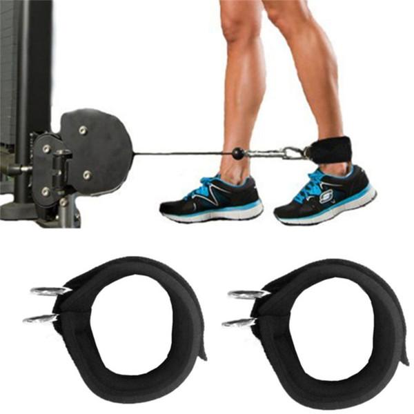 1 Pcs 2D Ring Ankle Straps Leg Strength Training Fitness Exercise Training Equipment Elastic Durable Nylon Belt