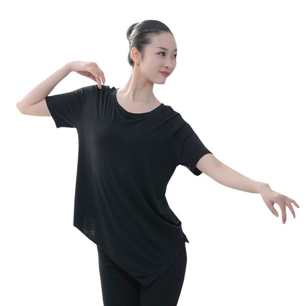 New Ballet Dance Leotards Women Professional Ballet Dance Top Ballroom Practice Clothes Modern Wear Adult Bat Short Sleeve