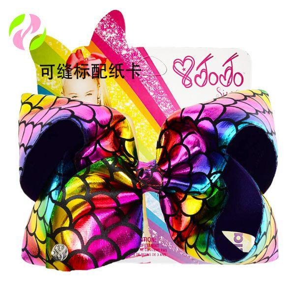 8/'/' Girls JOJO SIWA Large Hairbow Hair Bows Grosgrain Ribbon Clips Kids Bowknot