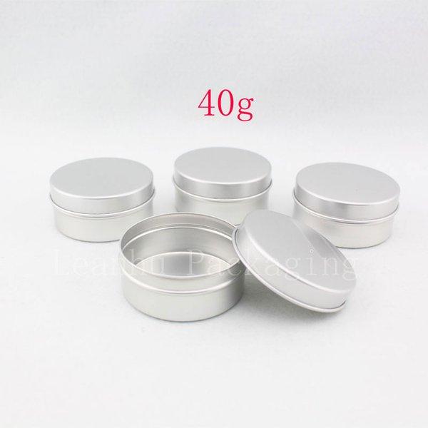 40г X 100 пустых круглых бальзамов для губ алюминиевые контейнеры, 40мл олова для мази, кремовые флаконы, блеск для губ, металлическая банка