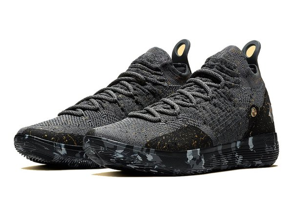Kids KD 11 Gold Splatter championship shoes Hot sales Top Quality new Kevin Durant 11 Basketball shoes free shipping US4-US12
