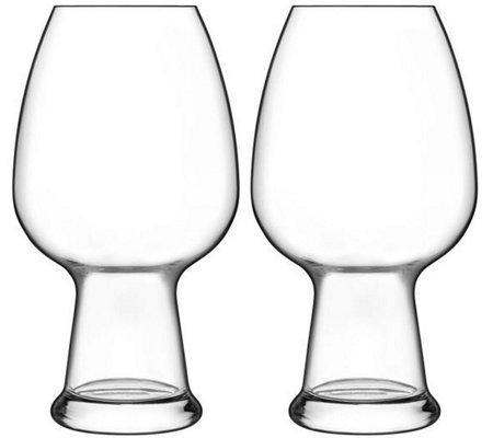 En gros personnalisé soufflé à la main 780ml clair bière bière verres à vin gravé logo transparent Birrateque Wheat Glasses