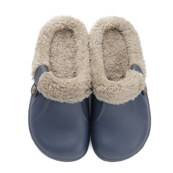 Men's Slippers Winter Warm Indoor Home Shoes Japanese Anti-slip Cotton Shoes