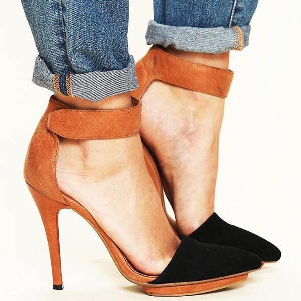 La venta caliente 2019 fotos LADES jóvenes plata muchachas atractivas partido de las sandalias de tacones altos brwon rojo de las mujeres del club nocturno zapatos de venta caliente más grande de tamaño 43
