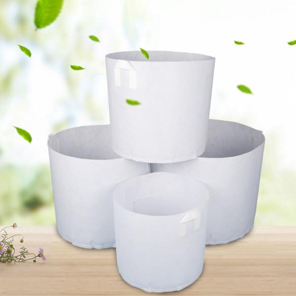 Olmayan Dokuma Beyaz Bitkiler Büyüyen Çanta Sebze Saksı Konteyner DIY Bahçe Saksı Dikim Çiftlik Ev Büyümek Çanta