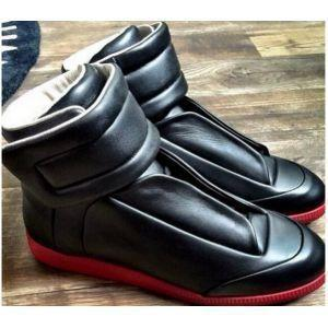 NEW high-cut sneakers men latest flat genuine leather casual shoes men's tLiqun Boots Highest version