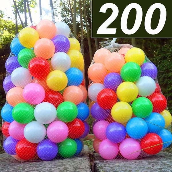 200 Teile / los Umweltfreundliche Bunte Weichplastik Wasser Pool Ocean Wave Ball Baby Lustige Spielzeug Stress Air Ball Outdoor Fun Sports SH190913