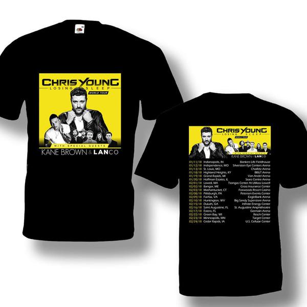 Camiseta Chris Young Tour 2018 Color negro Mejor diseño Talla S-3XL Mejor oferta