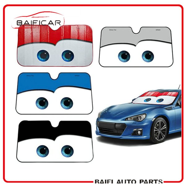 Baificar Brand New Genuine 5 Colors Eyes Heated Windshield Sunshade Car Window Windscreen Cover Sun Shade Car Solar Protection