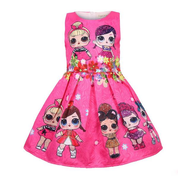 Bebek Elbiseleri 3-9Y Yaz Sevimli Zarif Elbise Çocuklar Parti Noel Kostümleri Çocuk Giysileri Prenses Lol Kız Elbise