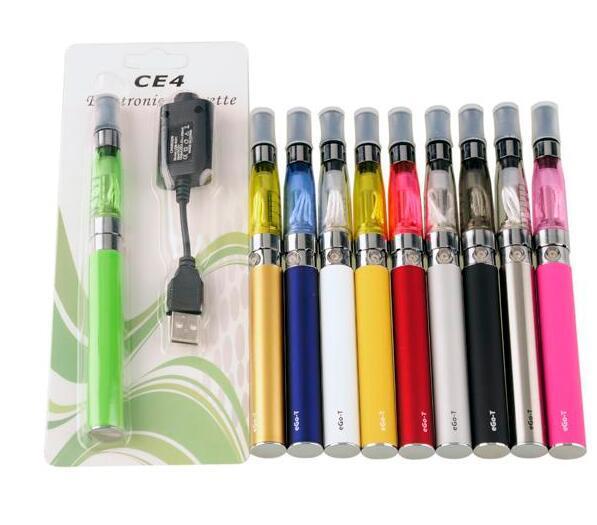 CE4 ego starter kit CE4 Electronic Cigarette Blister kits e cig 650mah 900mah 1100mah EGO-T battery blister case Clearomizer E-cigarette