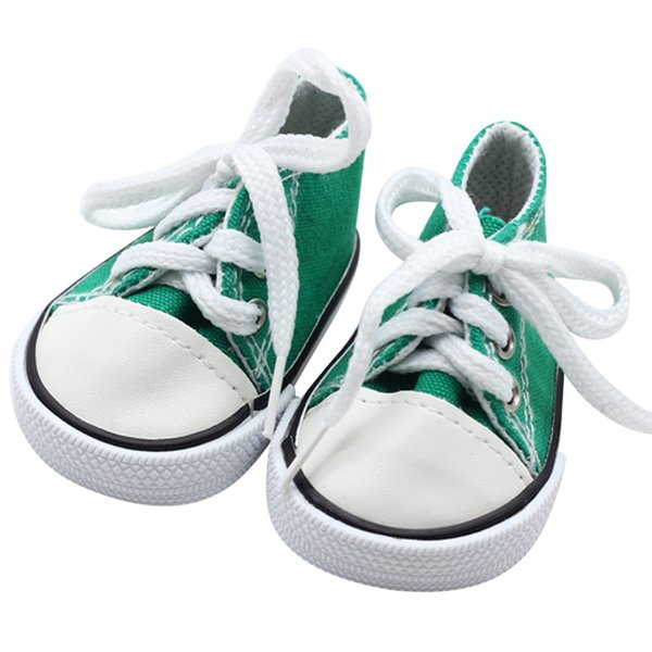 May baby #5001 2018 NEW Canvas Lace Up Sneakers Shoes For 18 inch Our Generation American Girl Boy Doll drop shopping