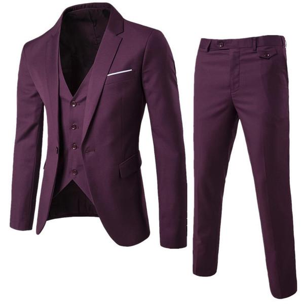 Novo estilo casual tamanho grande terno terno de três peças de casamento especial de um botão X0011 dos homens