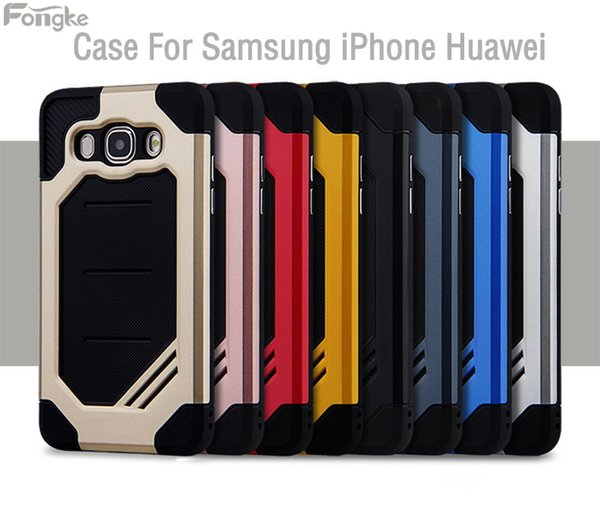 50MOQ Rubber Armor Hybrid Plastic Frame +TPU Case For Samsung Galaxy S8 S7 Note8 J3 J5 J7 Phone Case Shockproof Double Layer Cover