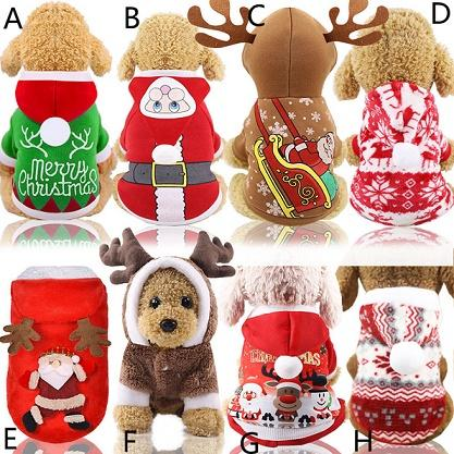 Pet dog anta co tume chri tma dre coat funny party holiday decoration clothe for pet hoodie puppy cat a03