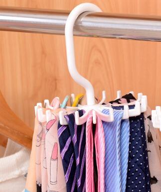 360 degrés tourné 22 crochets cravates foulards foulard créatif multifonctionnel cravate silencieux crochet de stockage de ceinture