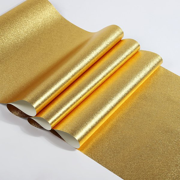 11yards Gold Foil Wallpaper Thick Waterproof Pvc Stickers Wallpaper Renovation Of Furniture European Pvc Wallpapers Hq Widescreen Wallpapers Images