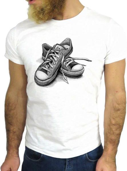 T SHIRT JODE Z2800 SHOES FUN NICE GYMSHOES ROCK USA DRAWING HIPSTER COOL GGG24 Men Women Unisex Fashion tshirt Free Shipping Funny Cool