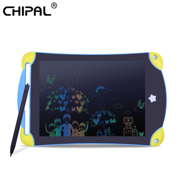 CHIPAL 8.5 inch LCD Writing Drawing Tablet Digital Board Erasable Office Pad Paperless Rewritten Notepad for Color Children Gift