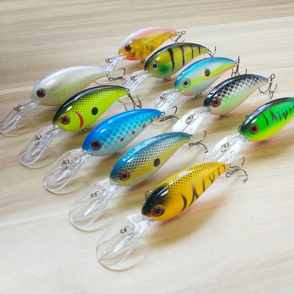 Brand Fishing Lures Sea Trolling Minnow Artificial Hard Bait 10cm/14g Big Wobblers Quick Dive Bait Carp Crankbait Pesca Jerkbait
