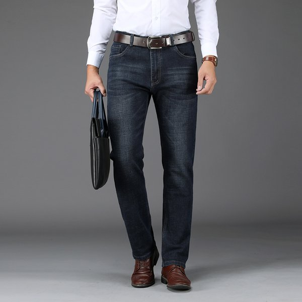 2019 2019 New Spring And Summer Hot Sale Men'S Business Classic Casual Jeans Pant Styles Straight Pant Quality Plus 543# From Tutucloth, $48.72  