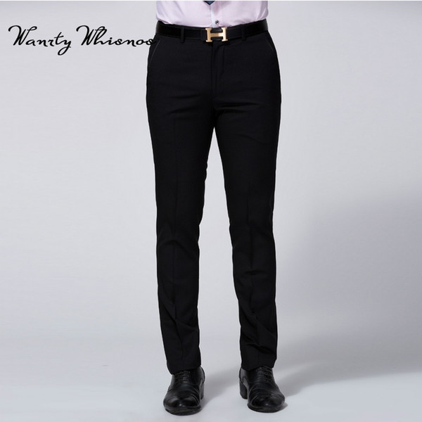 Pantalones de traje negro para hombres Pantalones de vestir sociales de lujo de moda Pantalones de chaqueta formal clásica para hombres Tamaño de pantalón de vestir para hombres