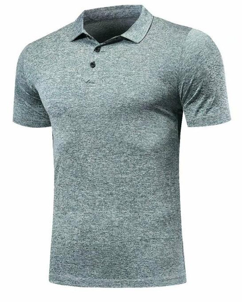 top popular Quick Dry Fit Polo Shirt Running T-Shirt Men Polo Tennis Shirt Basketball GYM Running T Shirt Badminton Soccer Sport Clothes DIY, Customized 2020