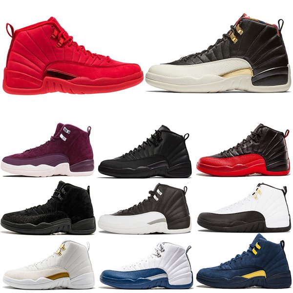 Acheter Nike Air Jordan Retro XII 12 Hommes Chaussures De Basket Ball Pour L'hiver Hiver WNTR CNY Gymnase Rouge Playoff The Master 12 S Taxi Designer