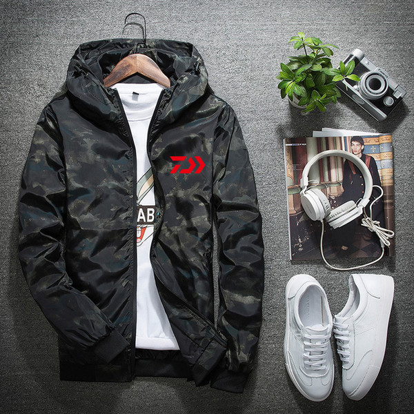 Daiwa Daiwa Fishing Clothing Quick Dry Fishing Clothes Outdoor Sport Shirts Mens Breathable Camouflage Jackets
