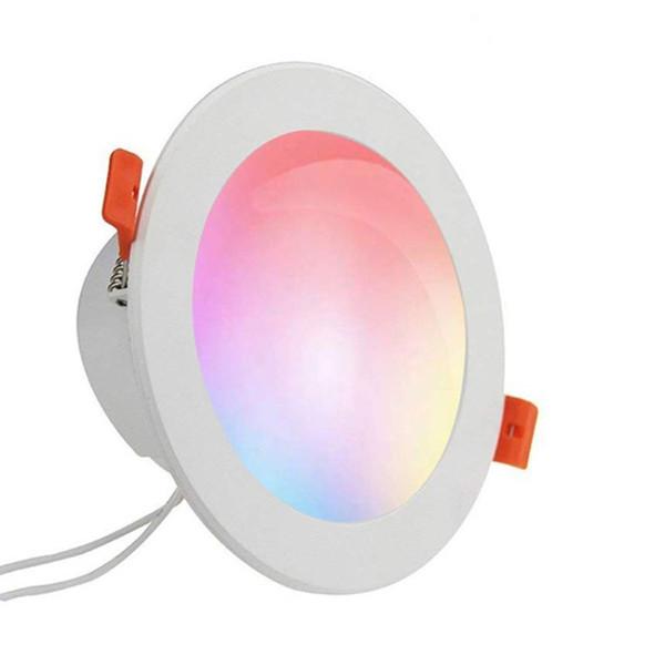 WIFI Downlight Iluminación interior Led Smart Downlight WIFI Luz de techo Control de voz Control de APP Trabaja con Google Inicio Alexa Echo IFTTT