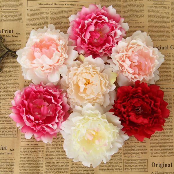 30 Pcs/15cm DIY artificial peony flower heads Multicolor Road lead wedding flower Bouquet hotel background wall decor C18112601