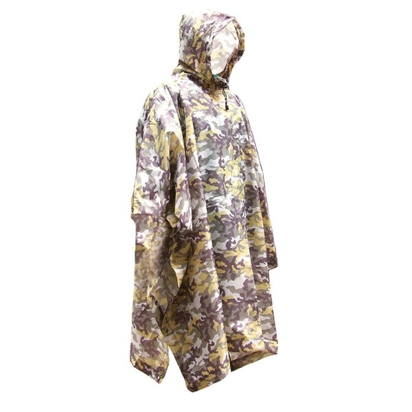 3 in 1 Multifunctional Raincoat Outdoor Travel Rain Poncho Backpack Quality Rain Cover Waterproof Tent Awning Camping Hiking #319378