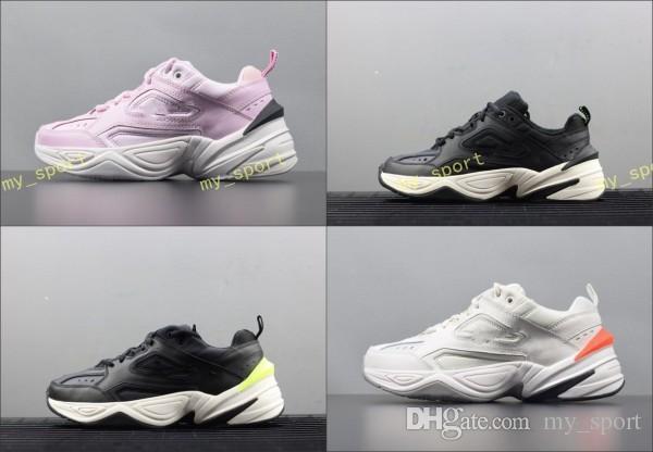 Alt Ultra Yumuşak Kalın Yastıklama Koşu Sneakers Orijinalleri Monarch 4 M2 k Tekno Hakiki Deri Nefes Atletik Ayakkabı