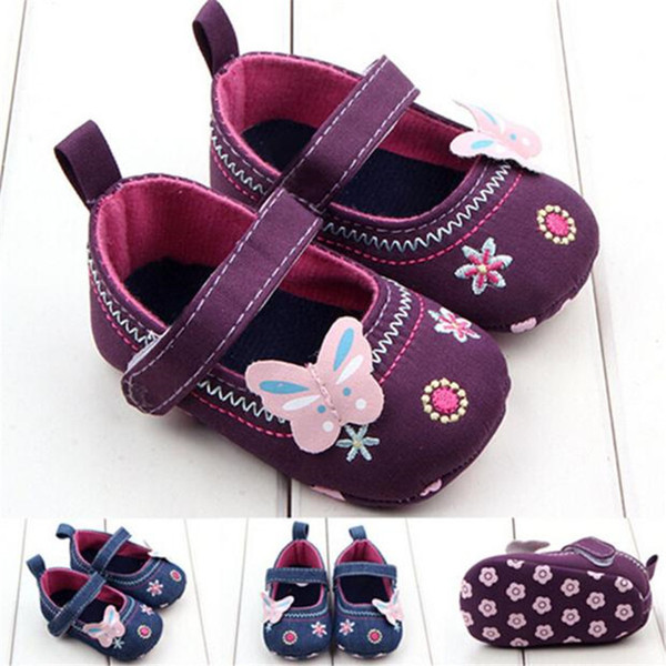 Fashion Baby Girl First Walker Butterfly Soft Sole Toddler Shoes NDA84L16