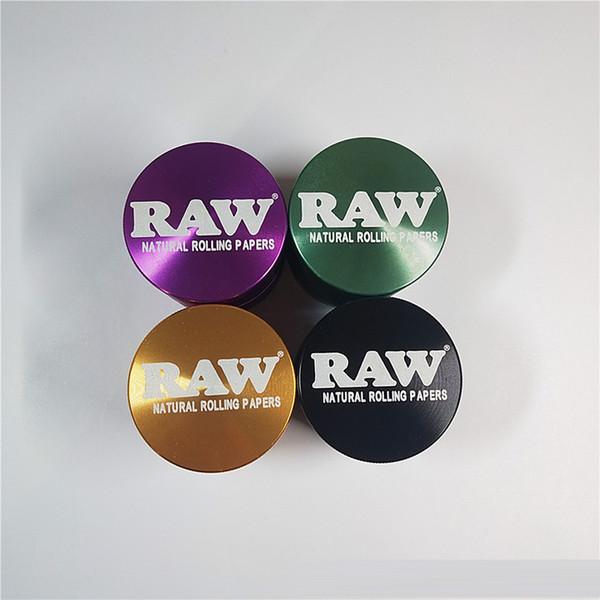 New Metal Tobacco Smoking Herb Grinder 4 strati Raw Grinders Smoke Accessori In confezione da 4 colori