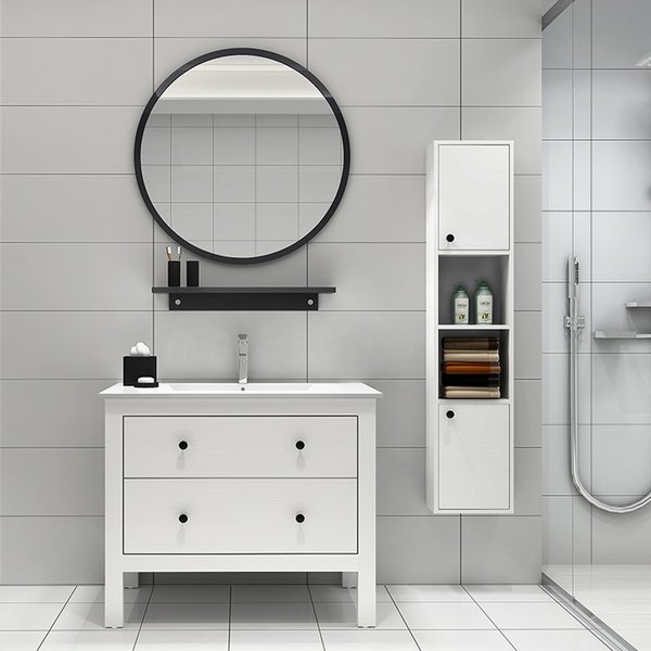 Nordic Personality Simple Round Wall Mirror Hotel Bathroom Decorative Vanity Mirror Round Makeup Wall Mirror Zp7191645 Wall Mirror Sale Wall Mirror