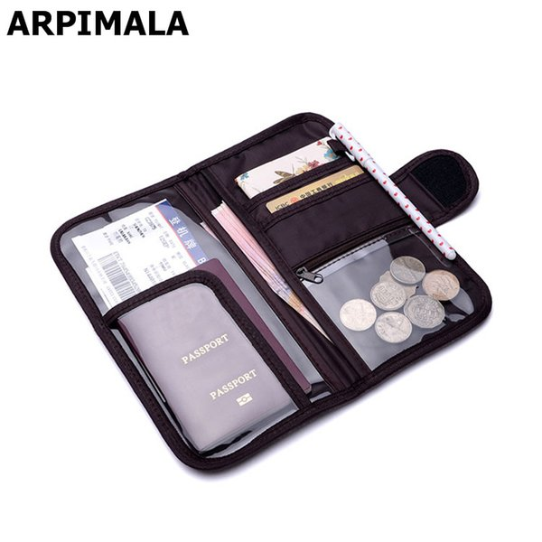 rand credit card holder ARPIMALA 2018 Brand Passport Cases Travel Wallet Big Organizer Document Bags Luxury Coin Money Purses Credit Card...